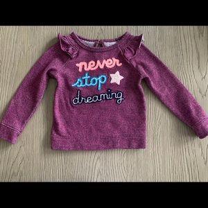 Cat & Jack girls sweatshirt ruffles target